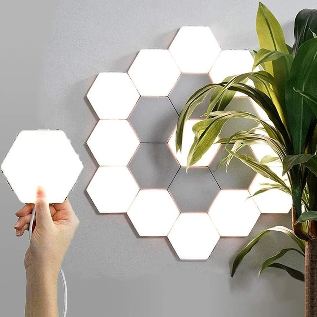Super Creative Modular Touch Light Deals Streak In 2020 Touch Lamp Hexagon Wall Lights
