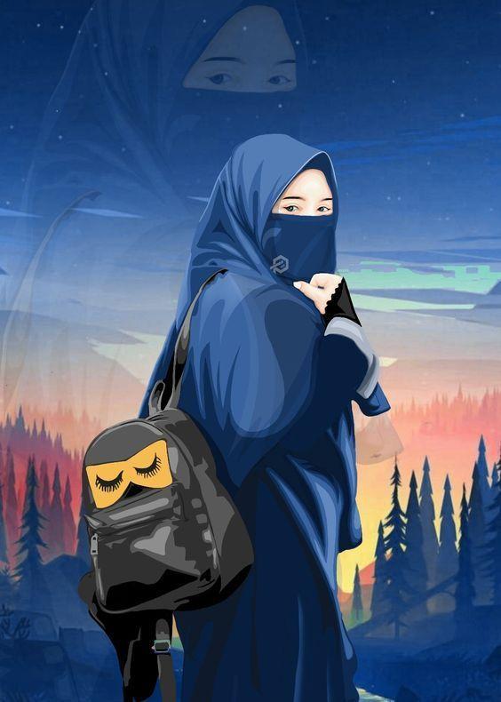 150 Gambar Kartun Muslimah Berkacamata Cantik Sedih Terlengkap Ilustrasi Karakter Lukisan Keluarga Gambar Karakter