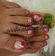 Photo of Toes Design Red Floweer Art