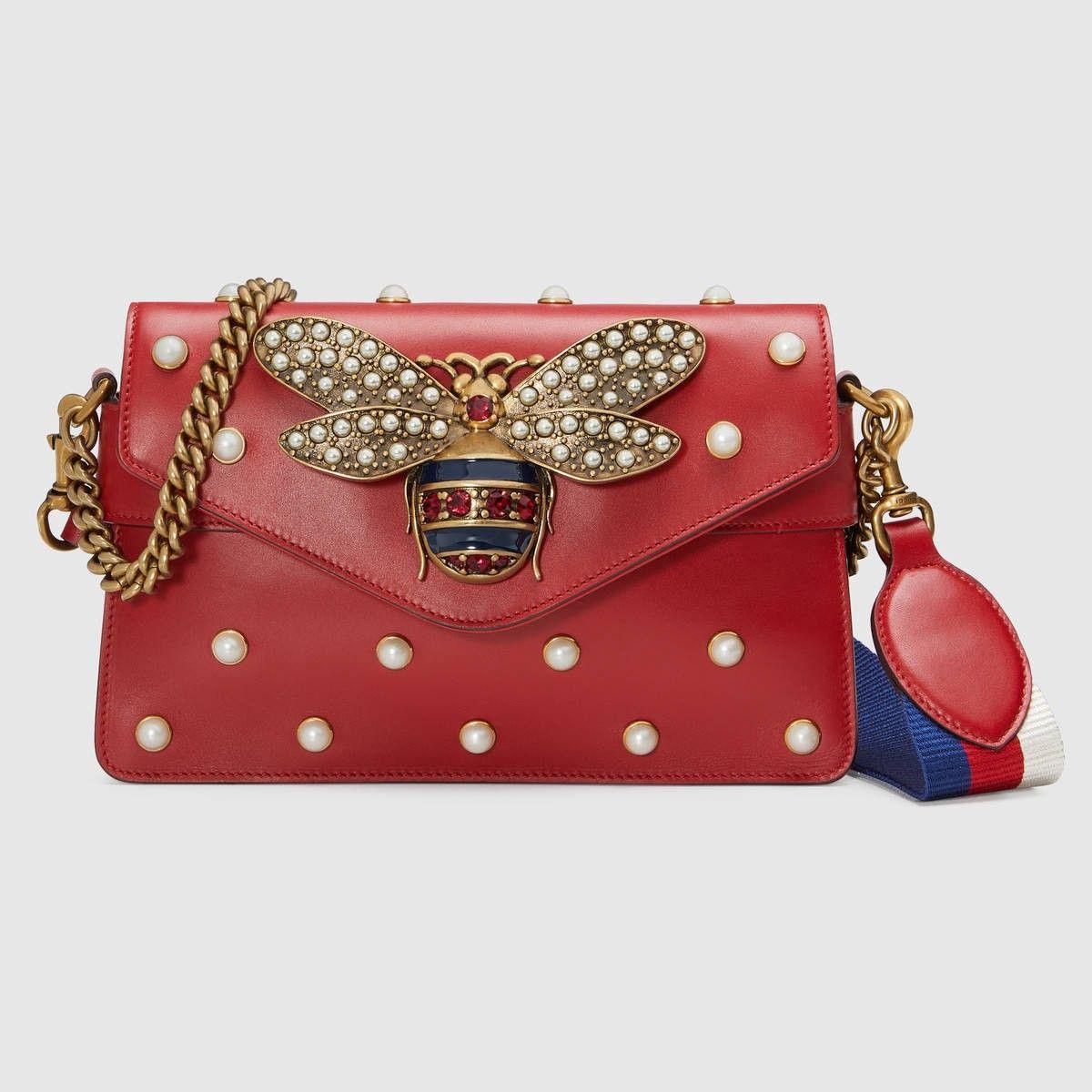 3d806135f6d0 GUCCI Broadway leather mini bag - hibiscus red leather. #gucci #bags #stone  #nylon #leather #lining #shoulder bags #crystal #silk #