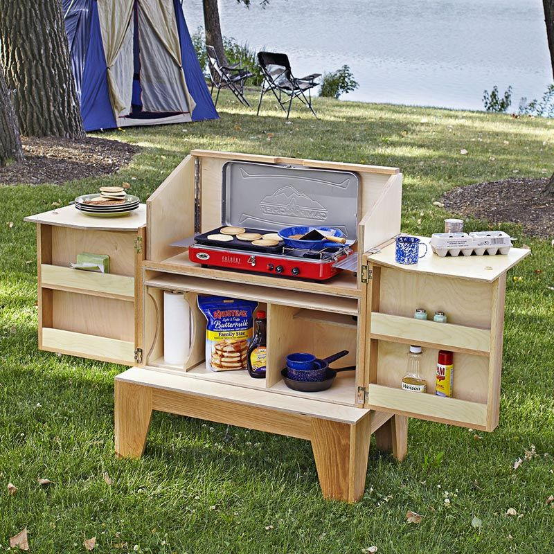 Camp Kitchen Woodworking Plan From Wood Magazine Luv It Deer