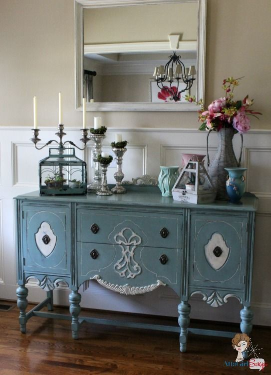 Summer 2013 Showcase Of Homes Painted Buffet Decor
