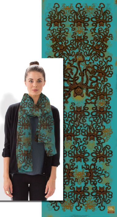 Modal Scarf - GREEN FOREST by VIDA VIDA