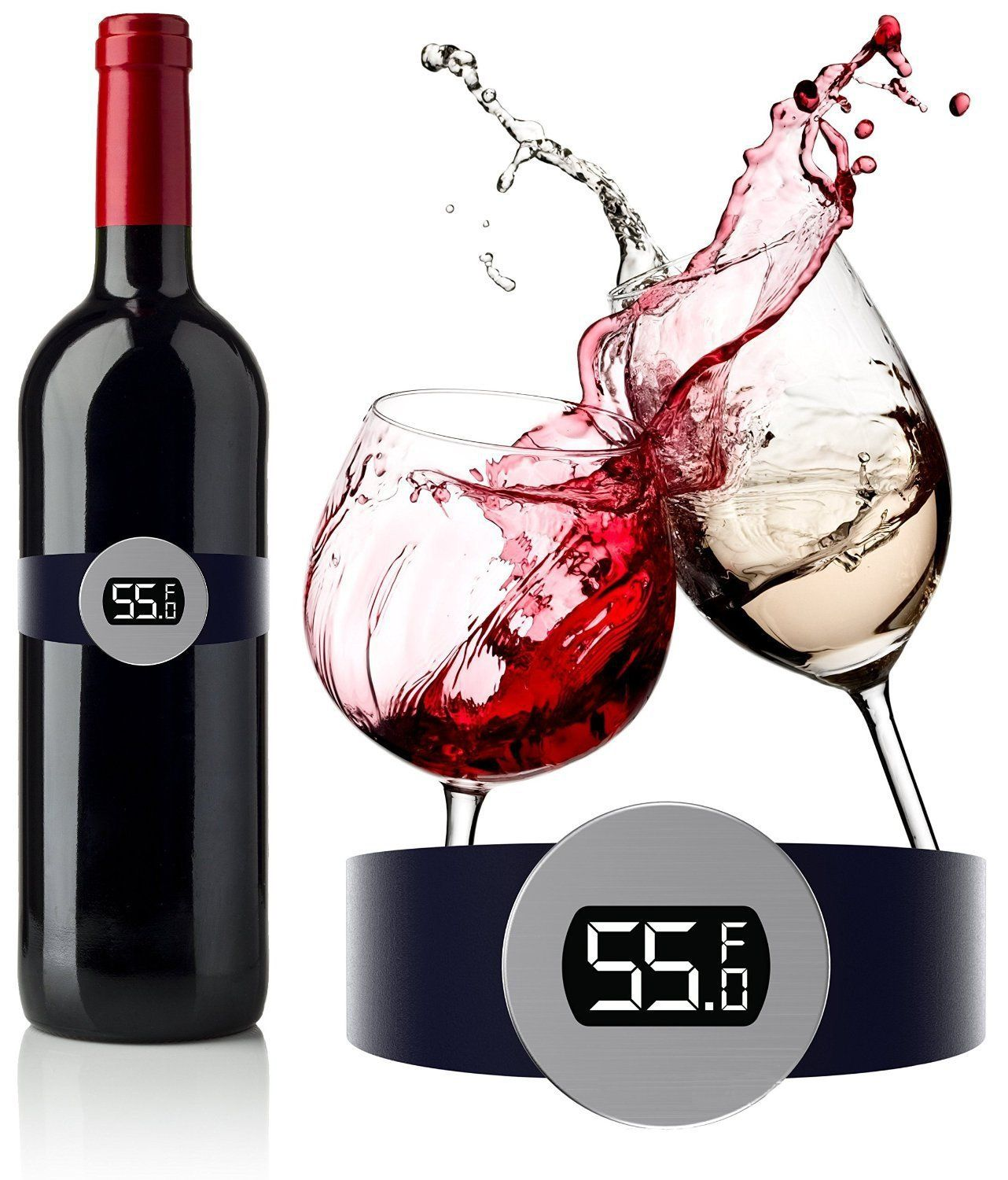 Cnb S Wine Thermometer Best Wine Gift Accessory For Any Wine Enthusiast To Serve Your Bottles At The Correct Wine Tempe Wine Enthusiast Wine Temperature Wine