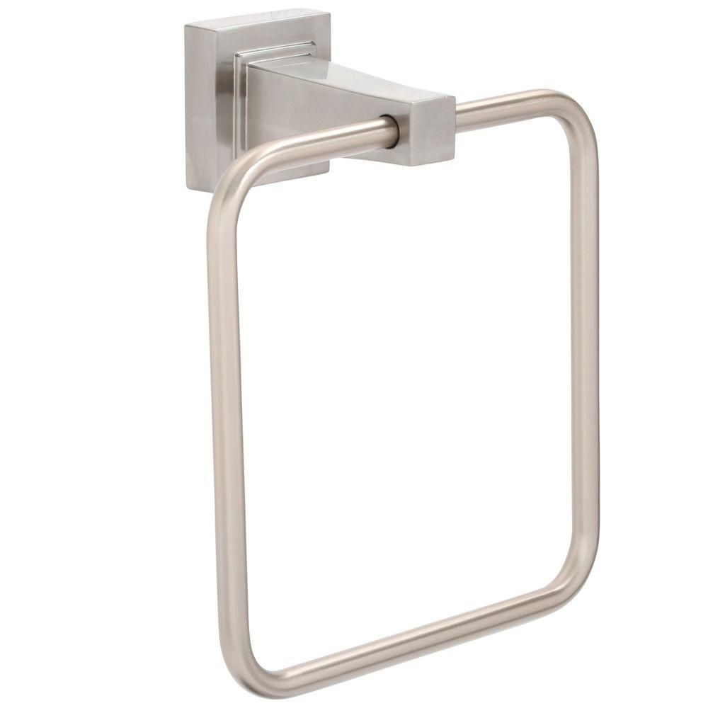 Glacier Bay Adelyn Towel Ring In Brushed Nickel
