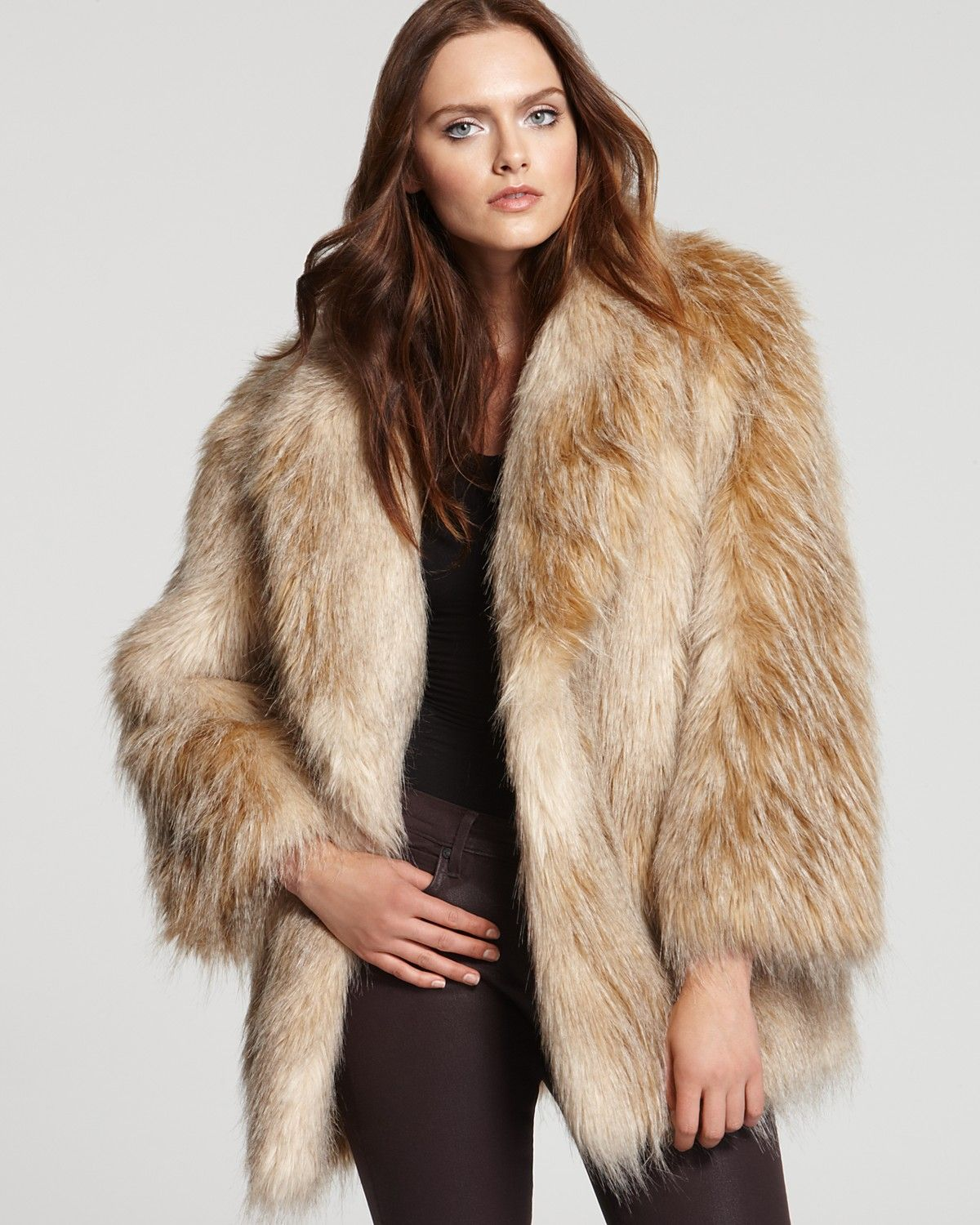 5836a504e0d5 Juicy Couture Feather Faux Fur Jacket | Bloomingdale's | fall ...