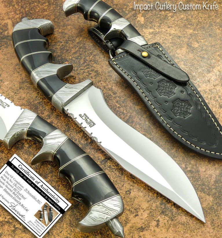 This Marvelous 1 Of A Kind Knife With D2 Tool Steel Blade Not Only Looks Gorgeous But It Is Also Rock Solid Because Of Its Knife Knives And Swords Bowie Knife