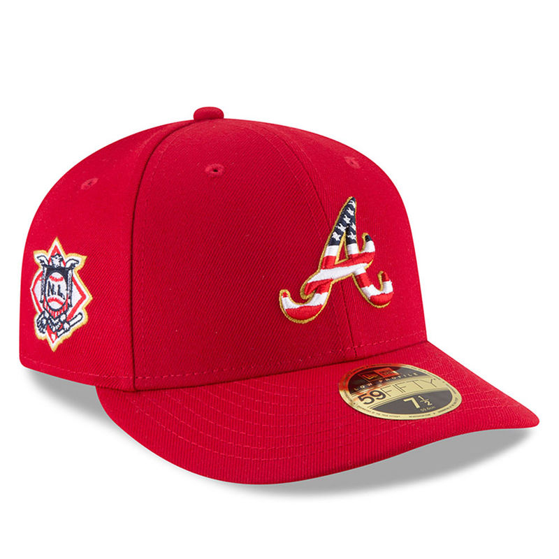100% top quality how to buy most popular Atlanta Braves New Era 2018 Stars & Stripes 4th of July On-Field ...
