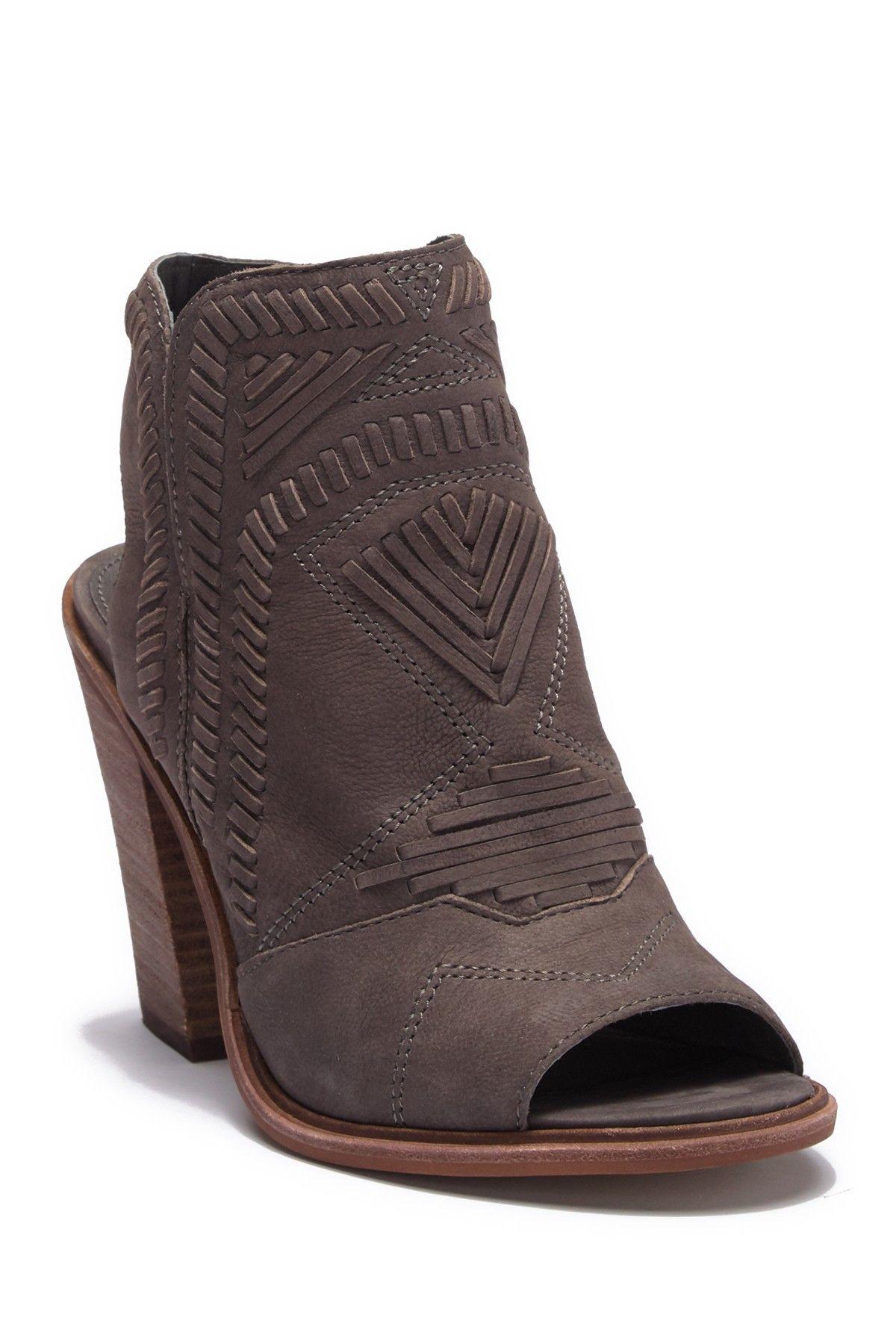 6fe669a1e6 Karinta Leather Block Heel Bootie | Products | Block heels, Heels ...