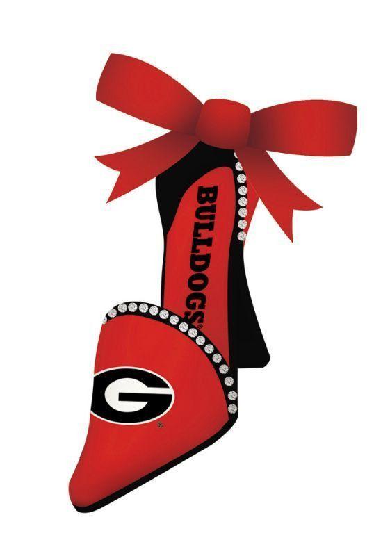 Georgia Bulldogs High Heeled Shoe Ornament