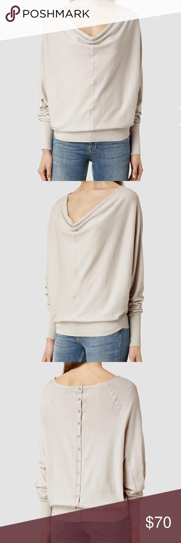 All Saints Elgar cowl neck cream sweater sz S | Cowl neck, Retail ...