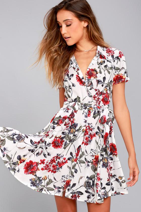 46+ Short sleeve floral dress ideas