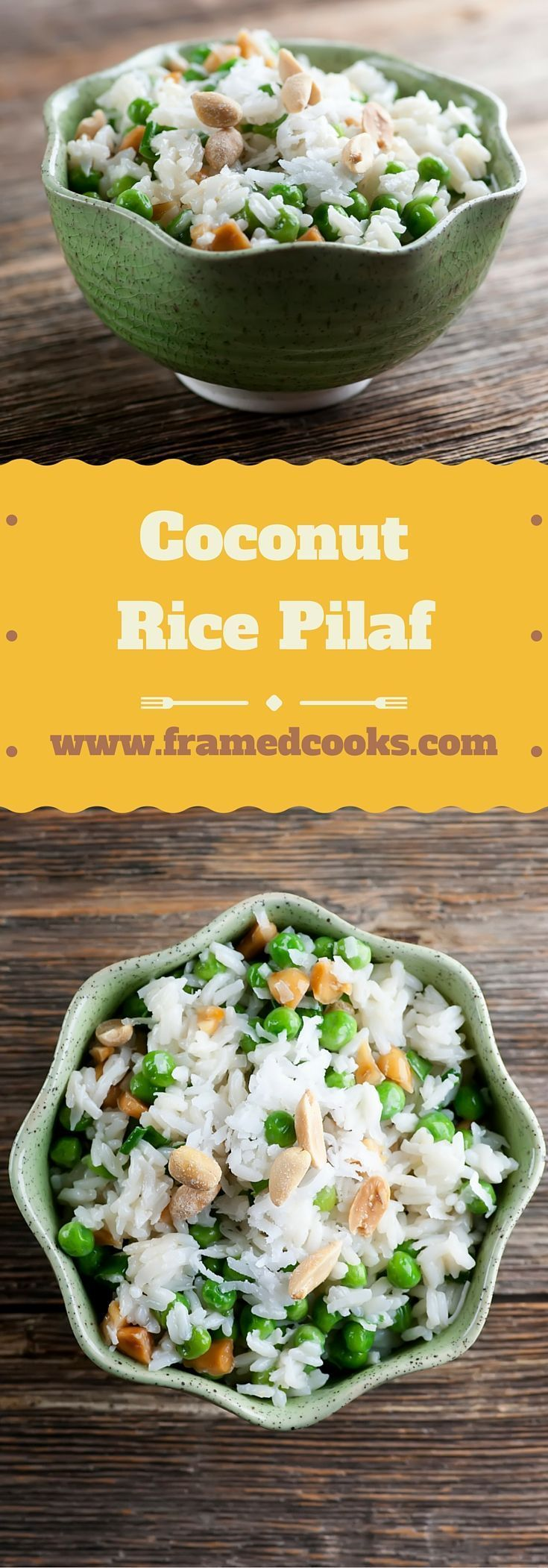 Coconut Rice Pilaf -  #coconut #pilaf #rice #easyricepilaf Coconut Rice Pilaf #easyricepilaf