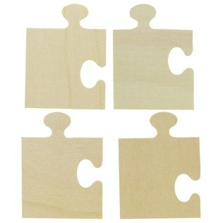 Puzzle Piece Wood Shapes from Hobby Lobby - (8) 3