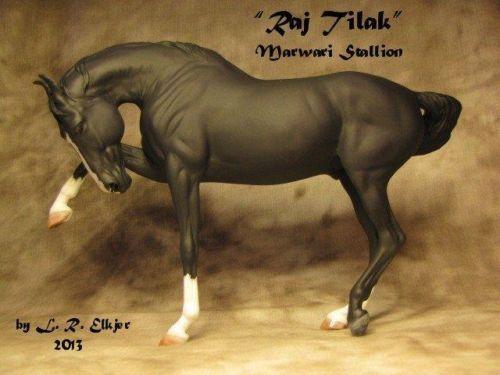 OOAK-CM-Black-Breyer-Marwari-by-Elkjer-model-horse-custom