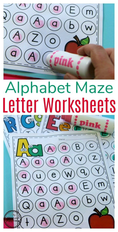 Letter Worksheets | Pinterest | Letter worksheets, Maze and Worksheets