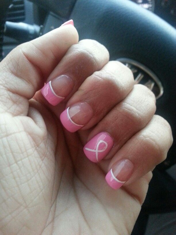 Breast cancer awareness simple pink and white