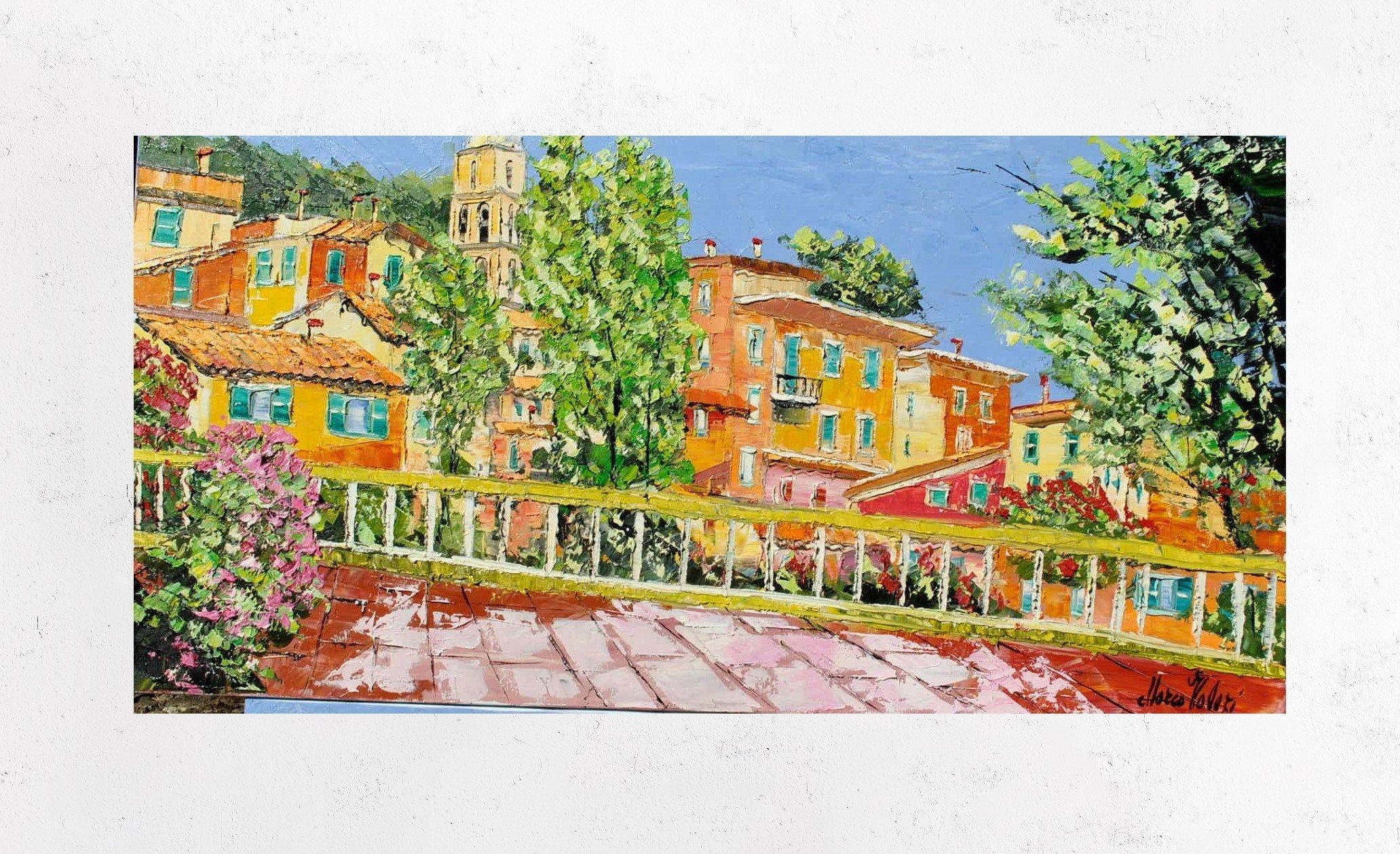 Pittura Portofino su tela arredamento wall art idea regalo ...