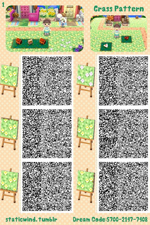 Grass path part 2 of 2 animal crossing new leaf qr for Acnl boden qr
