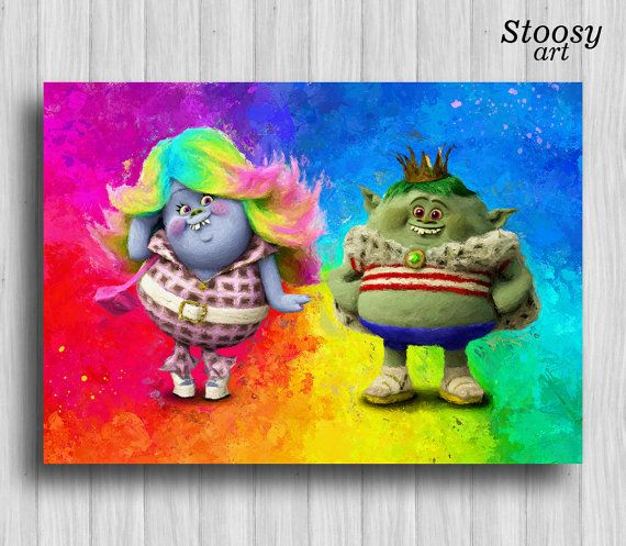 Trolls Print Prince Gristle Bridget Trolls Decor Birthday