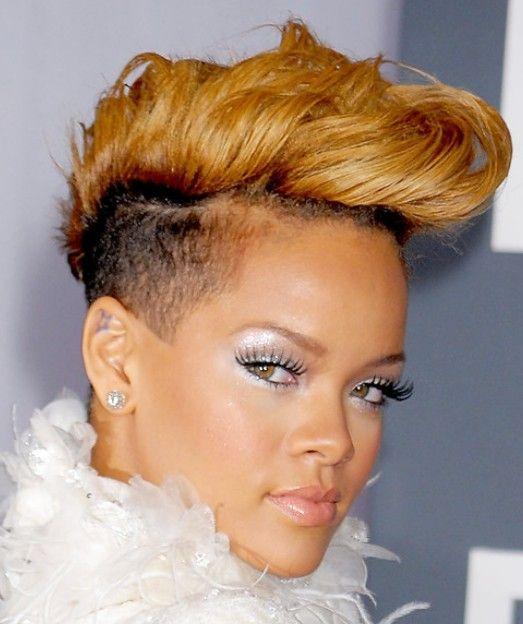 Rihanna super short summer hair style