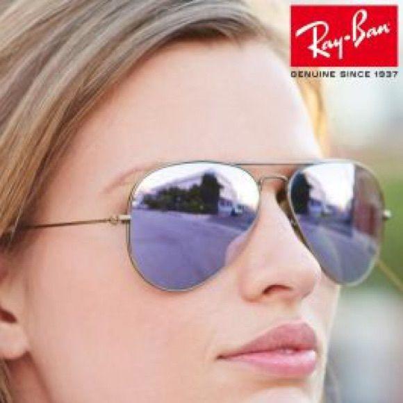 ray ban mirrored aviators  Ray Ban Mirrored Aviator Sunglasses