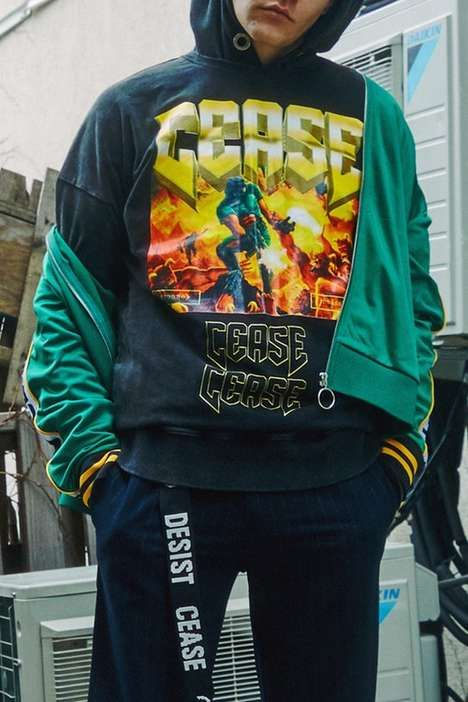 90s tech inspired apparel the cease desist collection has heavy 90s tech inspired apparel the cease desist collection has heavy graphics and patchworks thecheapjerseys Image collections