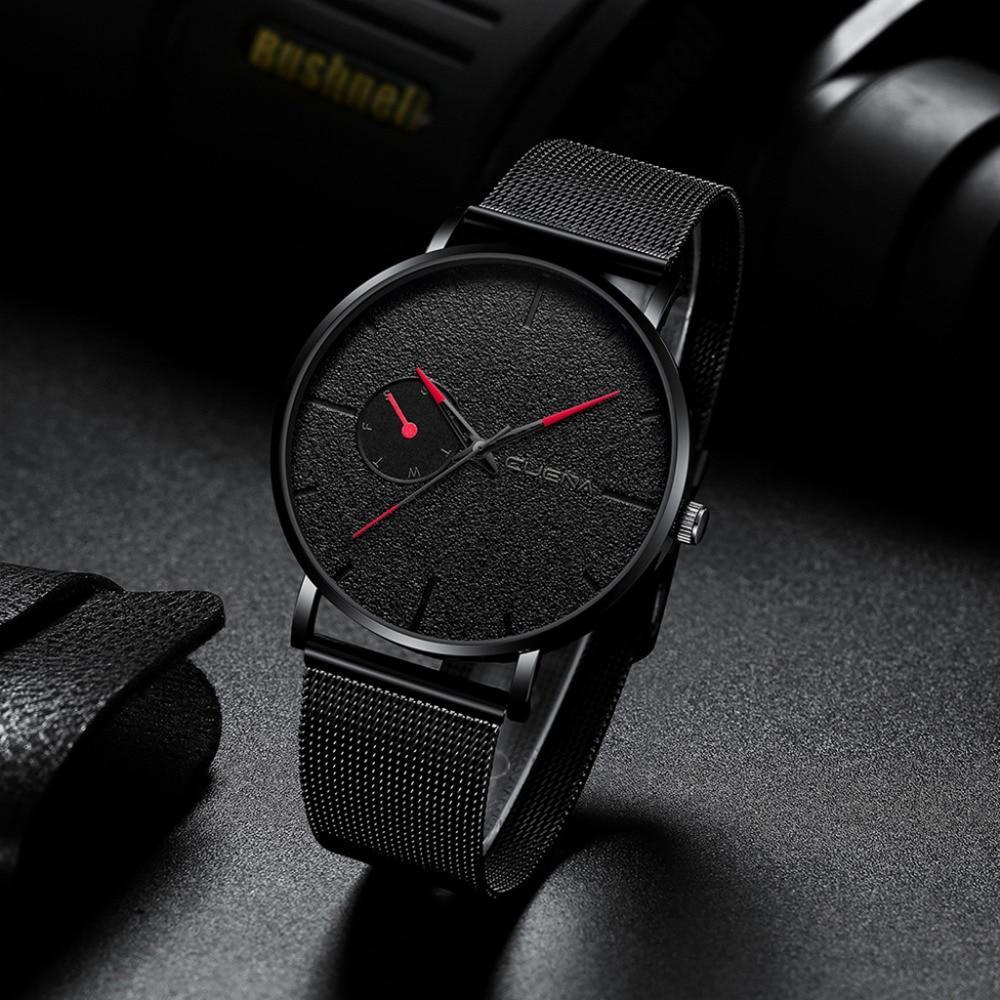 Luxury Quartz Watch Men Casual Slim Mesh Steel Date Waterproof Watch Watches For Men Waterproof Watch Waterproof Sports Watch