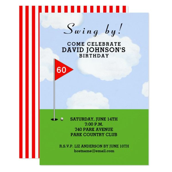 Golf Themed Birthday Card Golf Birthdays And Summer Wedding