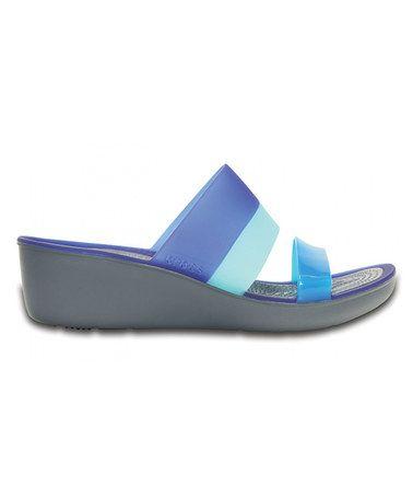 Loving this Storm & Cerulean Blue Wedge Sandal - Women on #zulily! #zulilyfinds