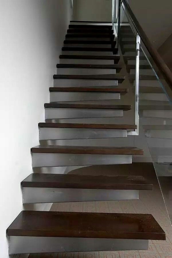 Best Steel And Wood Stair Staircases Staircase Design 400 x 300
