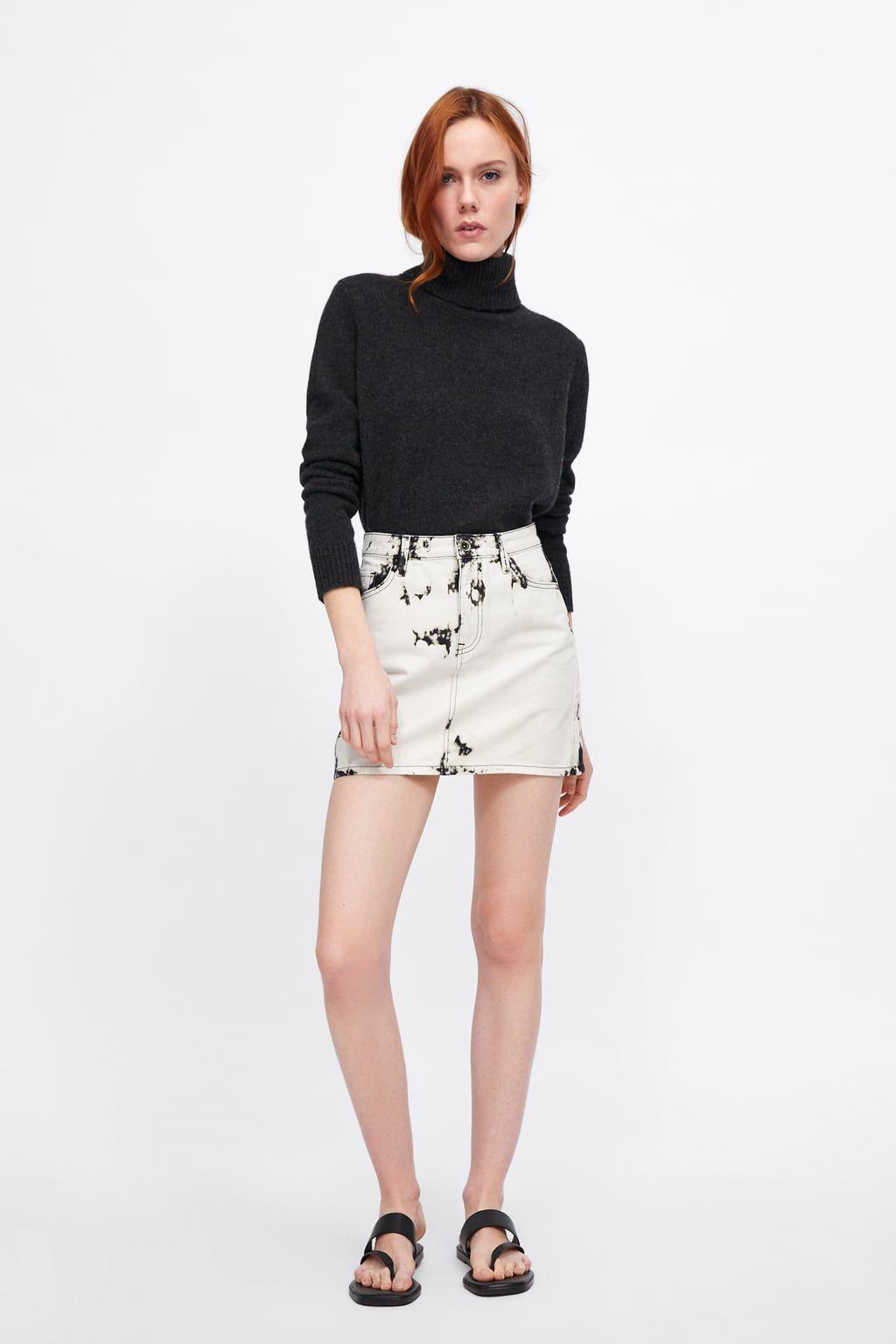 80887b8f Z1975 tie dye mini skirt in 2019 | Spring 2019 Lookbook | Mini ...