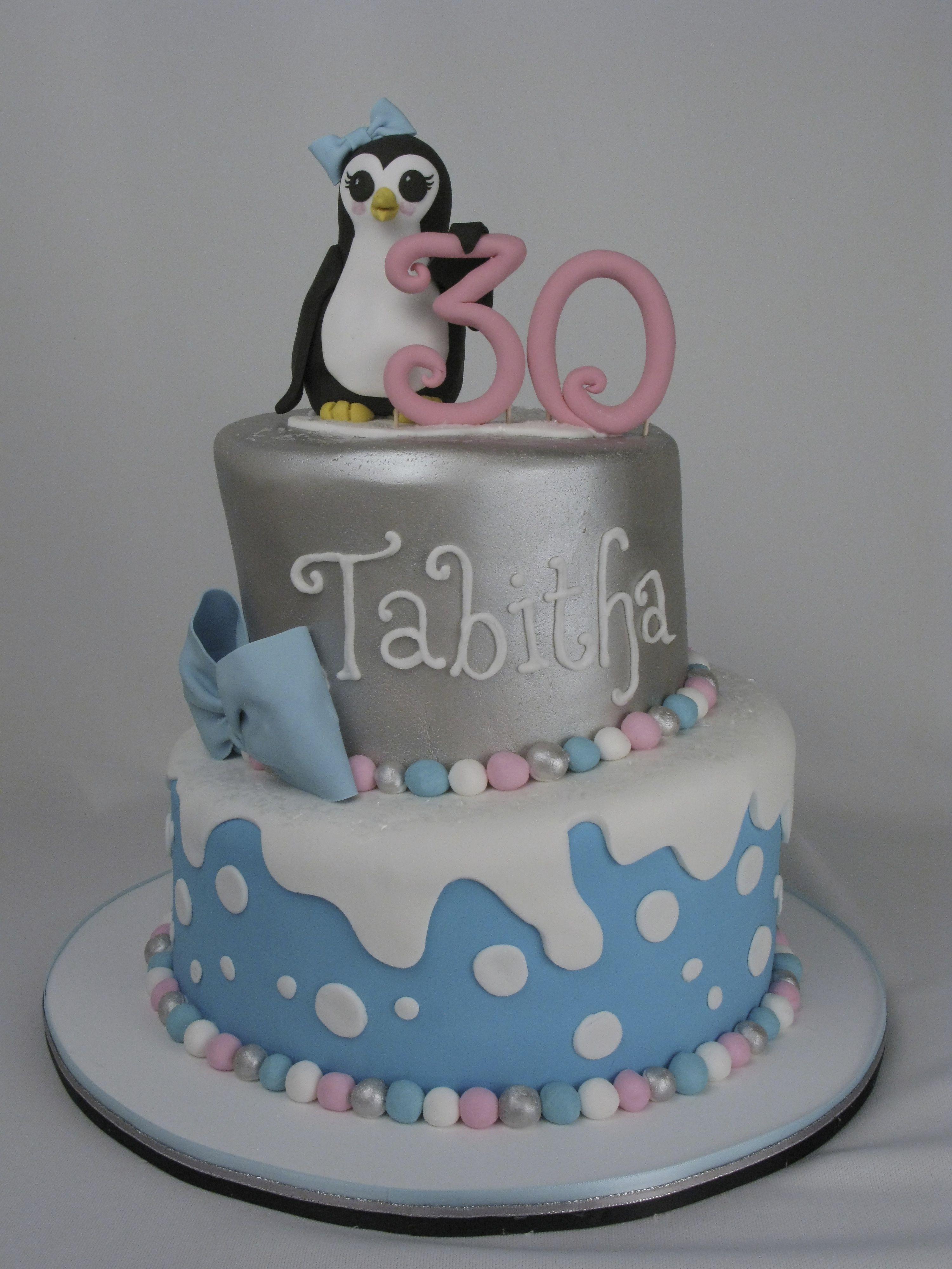 Fantastic 30Th Birthday Penguin Girl Cake Girl Cakes Cake Custom Cakes Funny Birthday Cards Online Alyptdamsfinfo
