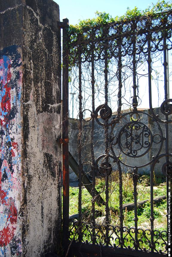 Montevideo pics, free for personal use, available on our site for professional use! GATE FENCE IRON ABANDONED GRAFFITI