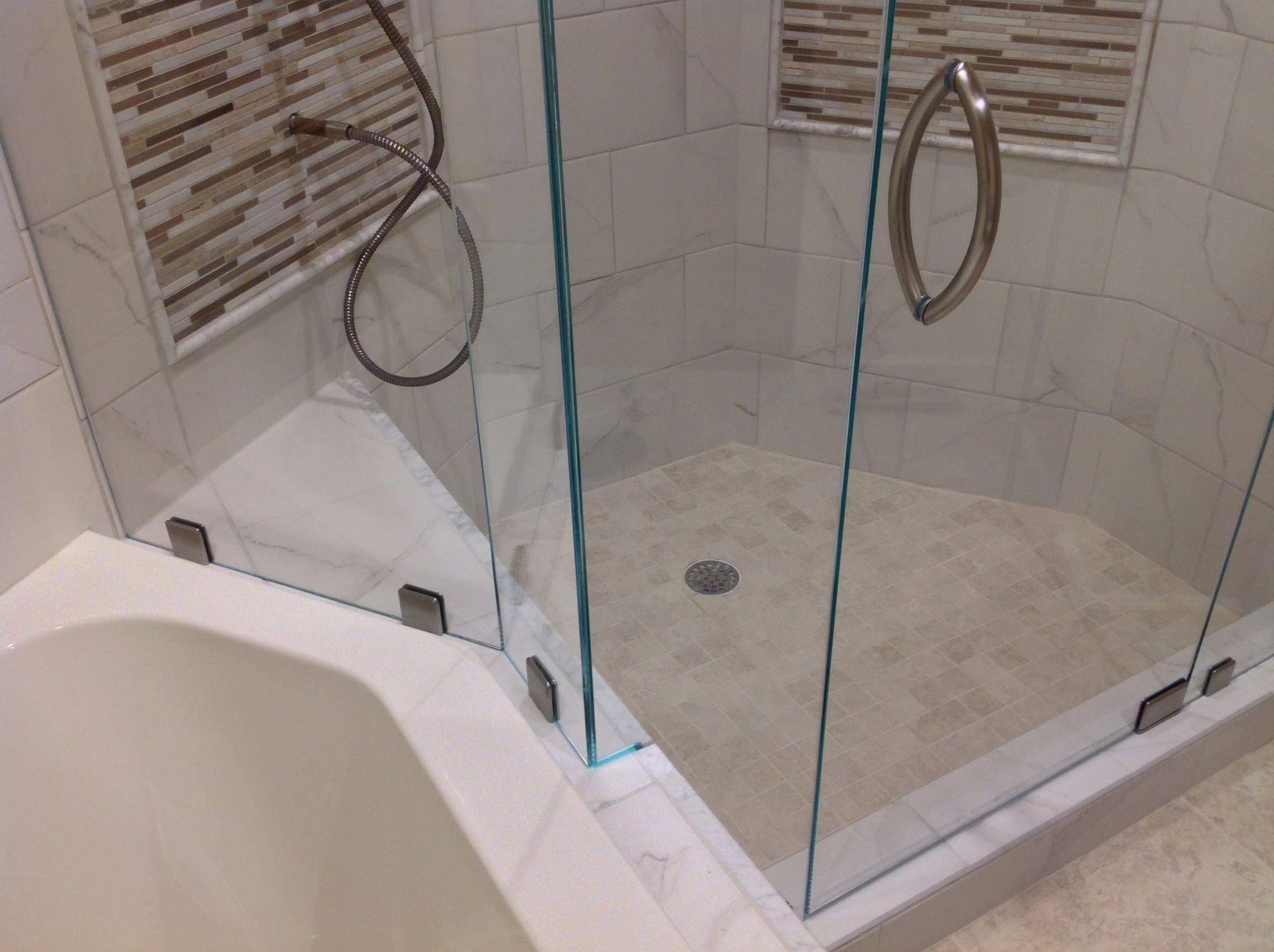 8 Crescent Handle In Brushed Nickel Shower Door Handles