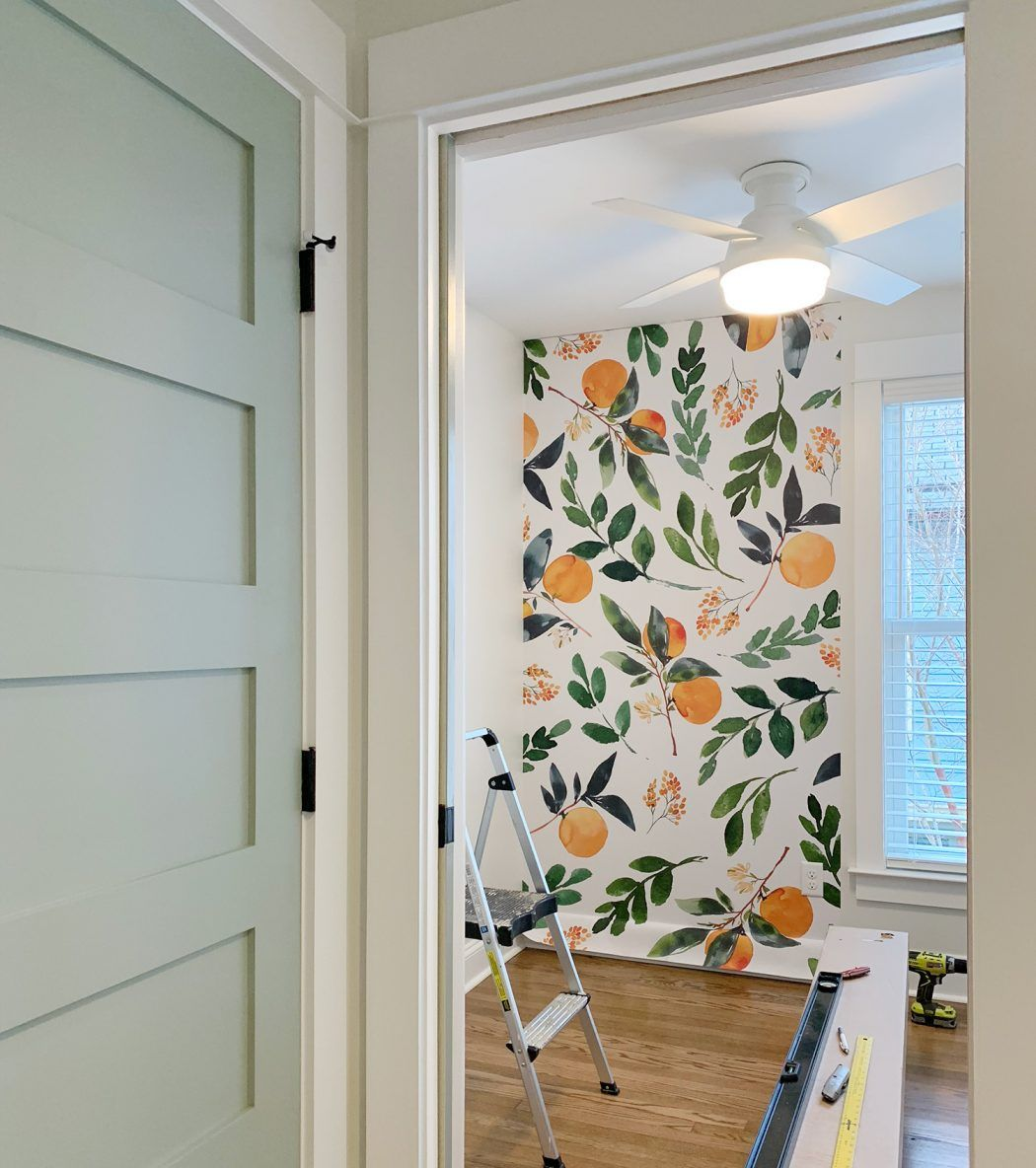 Four More Finished Spaces At The Duplex Young House Love How To Install Wallpaper Wallpaper Door Mural Wallpaper