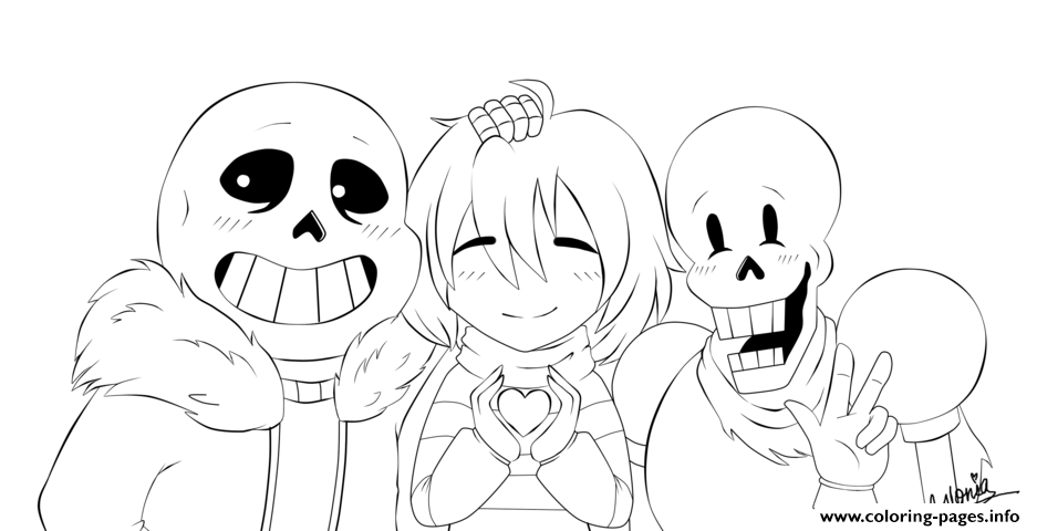 Print Undertale Collab By Gloriapainthtf Coloring Pages