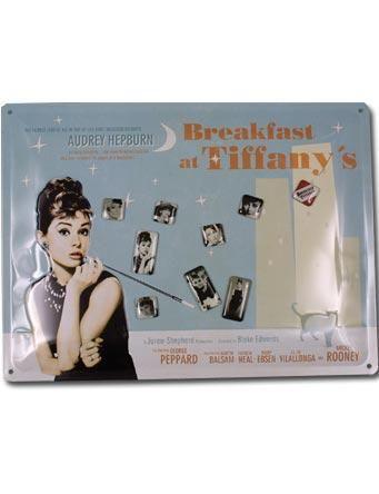 Blechschild Breakfast at Tiffanys.