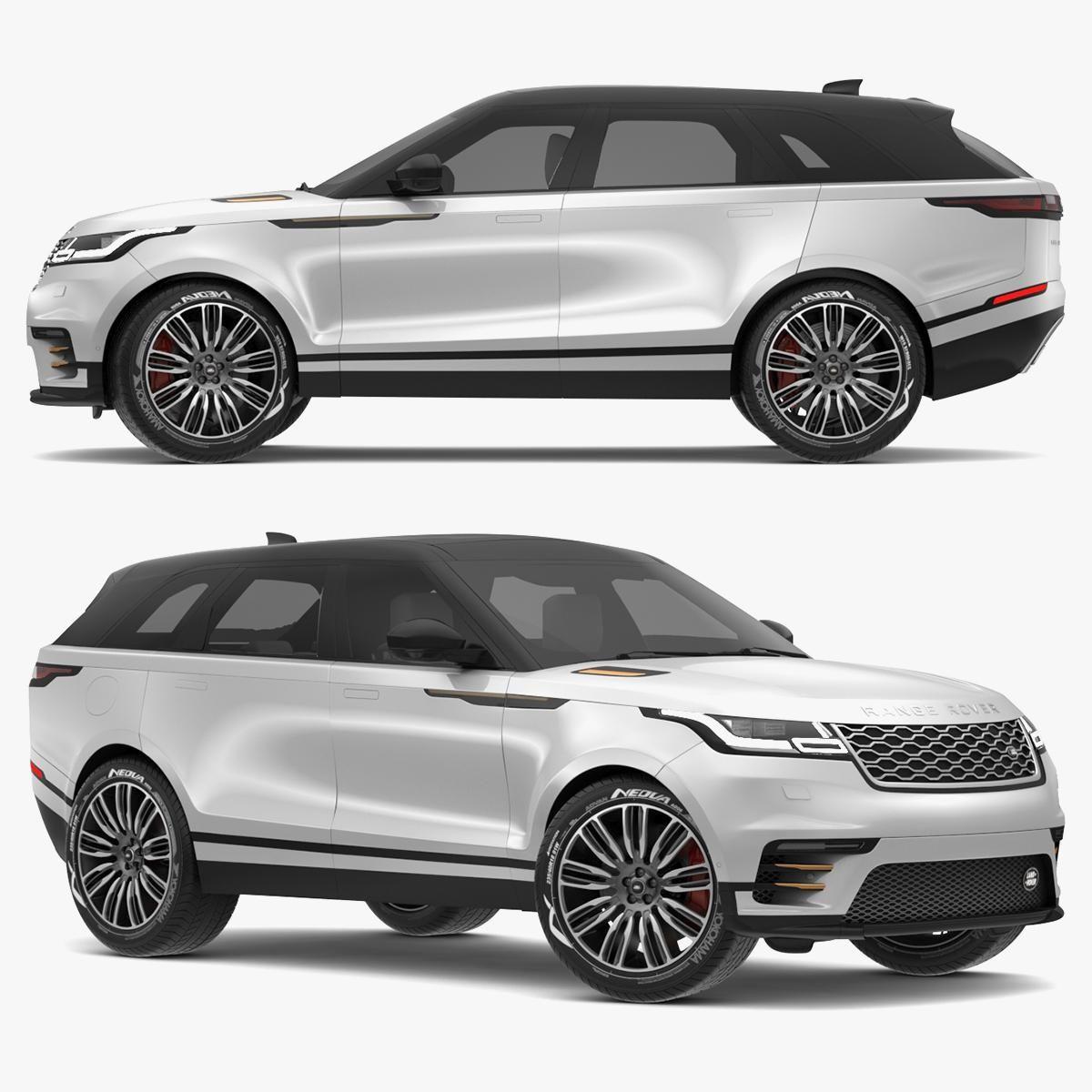2018 Land Rover Range Rover Velar Indus Silver 3D Model