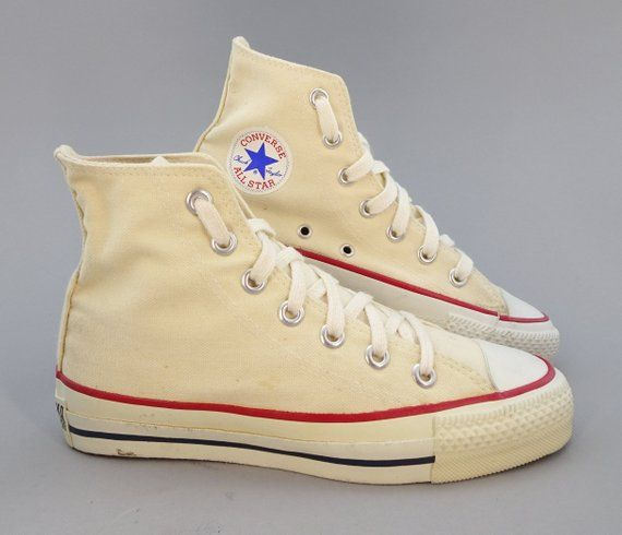 9774f2c1f1837 Original 1970s - 1980s Vintage Converse All Star Chuck Taylor High Top  Sneakers