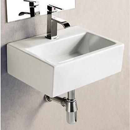 Elanti Porcelain White Wall Mounted Rectangle 17 X 12 Inch Sink Bathroom Sink Elegant Bathroom Modern Bathroom Sink