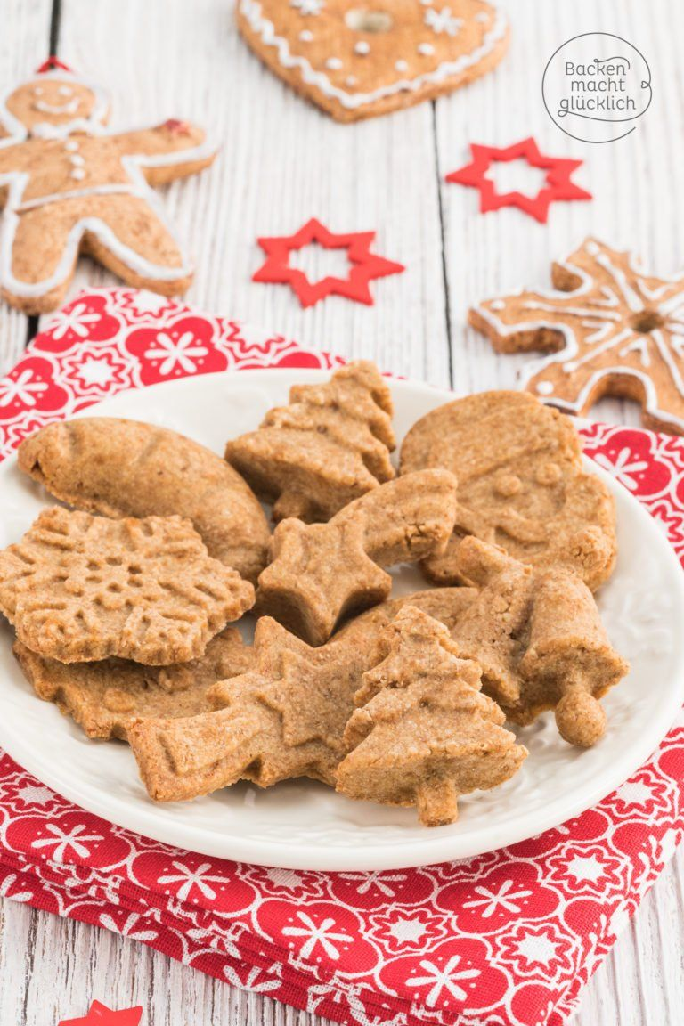 Weihnachtsplätzchen Zutaten.Gesunde Vollkorn Butterplätzchen