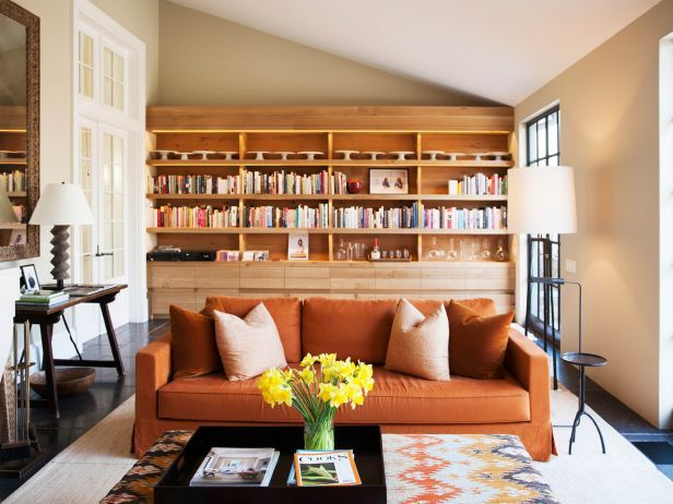 Barefoot Contessa Barn ina garten's cookbook library | barn, shelves and interiors