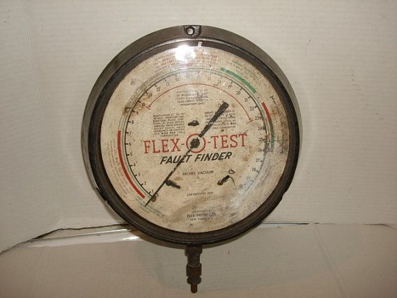1940's Champion Guage Company FLEX O TEST by PastPossessionsOnly, $24.95