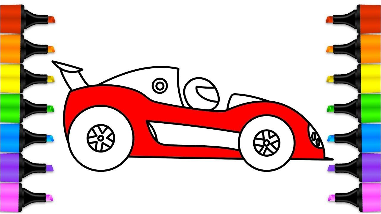 Mini Car for Kids Drawing | Video for Kids | Coloring Pages for Baby ...