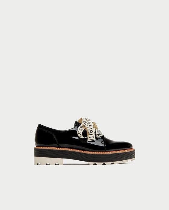 Imagen De Blucher Charol 2 Bolsos Zapatos Lazo Mensaje Y Zara 6xxnHrUwq