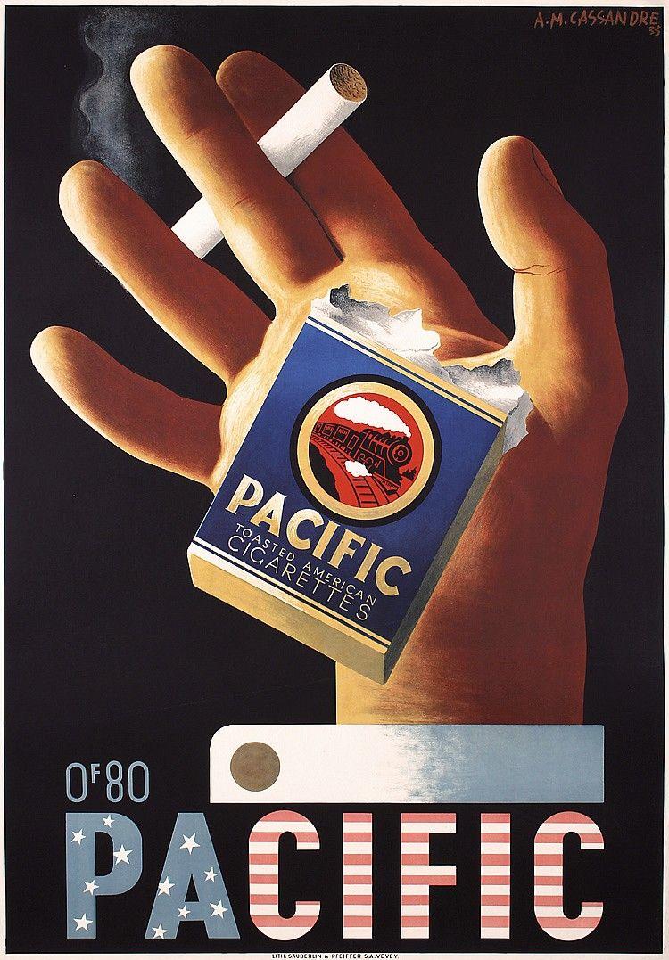 Original 1930s AM CASSANDRE Art Deco Poster PACIFI - by PosterConnection Inc.