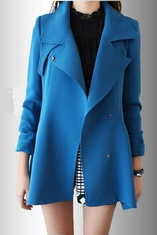 Cobalt Blue Coat / Windbreaker | Sheez Petite