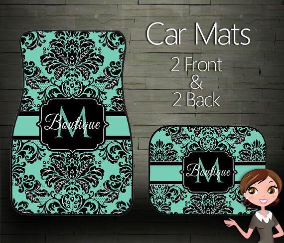 Monogrammed Floor Mats >> Custom Personalized Monogrammed Car Floor Mats The Real