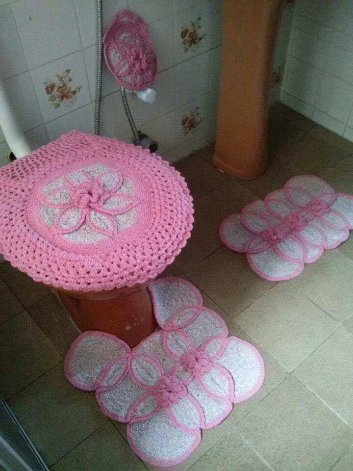 0eea1d118e37232d84388d0ab3a68d02 Jpg 720 960 Jogos De Banheiro Croche Tapete De Croche Conjunto De Banheiro